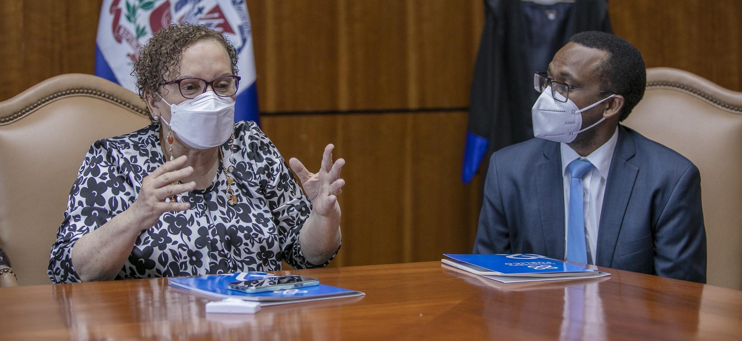 La magistrada Miriam Germán Brito se reúne con fiscales que trabajan la Operación Falcón